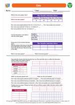 Mathematics - Second Grade - Worksheet: Data