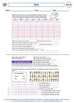 Mathematics - Second Grade - Worksheet: Data