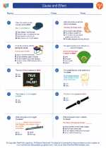English Language Arts - Sixth Grade - Worksheet: Cause and Effect