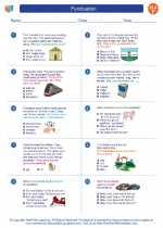 English Language Arts - Sixth Grade - Worksheet: Punctuation