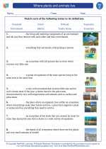 Science - Third Grade - Vocabulary: Where plants and animals live
