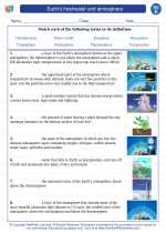 Science - Fifth Grade - Vocabulary: Earth's freshwater and atmosphere