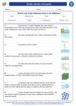 Science - Sixth Grade - Vocabulary: Solids, liquids and gases