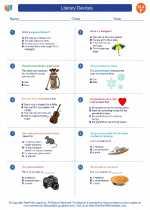 English Language Arts - Sixth Grade - Worksheet: Literary Devices