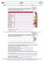 Mathematics - Third Grade - Worksheet: Mass