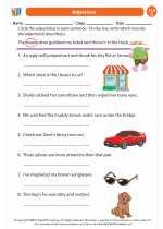 English Language Arts - Third Grade - Worksheet: Adjectives