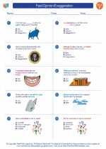 English Language Arts - Sixth Grade - Worksheet: Fact/Opinion/Exaggeration