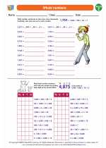Mathematics - Fifth Grade - Worksheet: Whole numbers