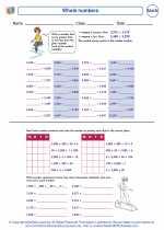 Mathematics - Sixth Grade - Worksheet: Whole numbers