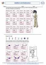 Mathematics - Fourth Grade - Worksheet: Addition and Subtraction