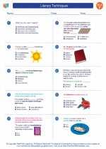 English Language Arts - Sixth Grade - Worksheet: Literary Techniques