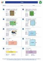 Mathematics - Fifth Grade - Worksheet: Area
