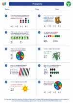 Mathematics - Fourth Grade - Worksheet: Probability