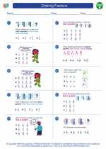 Mathematics - Fifth Grade - Worksheet: Ordering Fractions