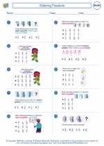 Mathematics - Fifth Grade - Worksheet: Ordering Fractions