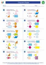 Mathematics - Fifth Grade - Worksheet: Congruent Shapes