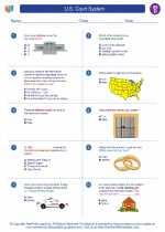 Social Studies - Fourth Grade - Worksheet: U.S. Court System