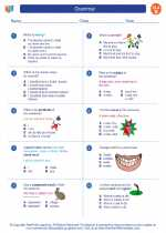 English Language Arts - Second Grade - Worksheet: Grammar