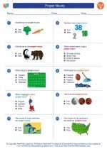 English Language Arts - Second Grade - Worksheet: Proper Nouns