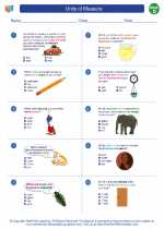 Mathematics - Fourth Grade - Worksheet: Units of Measure