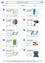 Mathematics - Fifth Grade - Worksheet: Fractions/Decimals