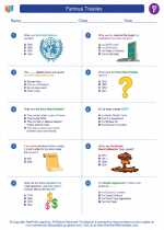 Social Studies - Sixth Grade - Worksheet: Famous Treaties