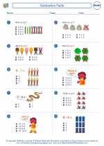 Mathematics - First Grade - Worksheet: Subtraction Facts