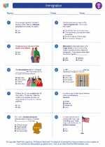 Social Studies - Fourth Grade - Worksheet: Immigration
