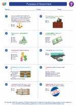 Social Studies - Fifth Grade - Worksheet: Purposes of Government