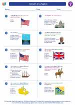Social Studies - Fifth Grade - Worksheet: Growth of a Nation