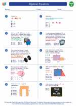 Mathematics - Sixth Grade - Worksheet: Algebraic Equations