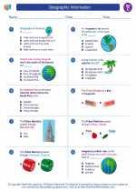 Social Studies - Third Grade - Worksheet: Geographic Information