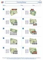 Mathematics - Third Grade - Worksheet: Counting Money