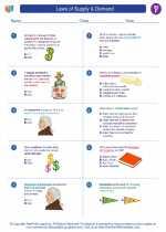 Social Studies - Sixth Grade - Worksheet: Laws of Supply & Demand