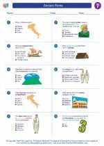 Social Studies - Sixth Grade - Worksheet: Ancient Rome