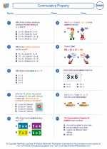 Mathematics - Third Grade - Worksheet: Commutative Property