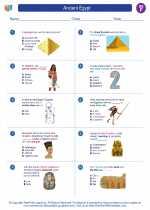 Social Studies - Sixth Grade - Worksheet: Ancient Egypt