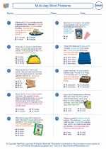 Mathematics - Fourth Grade - Worksheet: Multi-step Word Problems