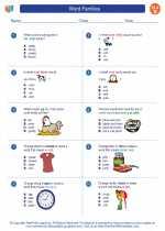 English Language Arts - Second Grade - Worksheet: Word Families