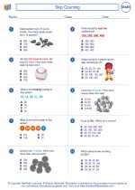 Mathematics - Third Grade - Worksheet: Skip Counting