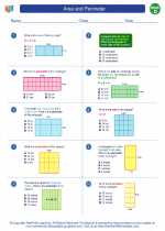 Mathematics - Fourth Grade - Worksheet: Area and Perimeter