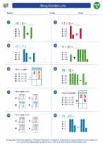 Mathematics - First Grade - Worksheet: Using Number Line