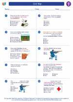 Social Studies - Fourth Grade - Worksheet: Civil War