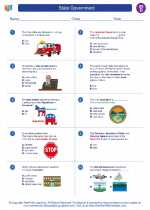 Social Studies - Fourth Grade - Worksheet: State Government