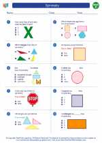 Mathematics - Third Grade - Worksheet: Symmetry
