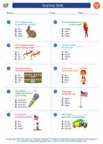 English Language Arts - Third Grade - Worksheet: Grammar Skills
