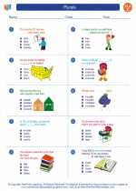 English Language Arts - Third Grade - Worksheet: Plurals