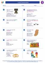 Social Studies - Fourth Grade - Worksheet: Local Government