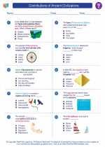 Social Studies - Third Grade - Worksheet: Contributions of Ancient Civilizations