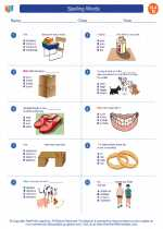 English Language Arts - Fourth Grade - Worksheet: Spelling